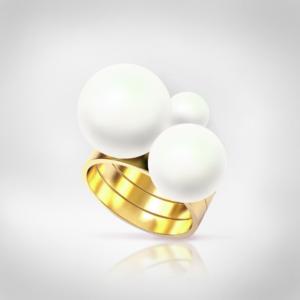 Bernadotte Jewellery Universe Glamour gyűrű arany