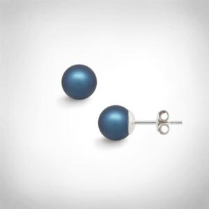 Bernadotte Jewellery Universe Irid Dark Blue fülbevaló ezüst