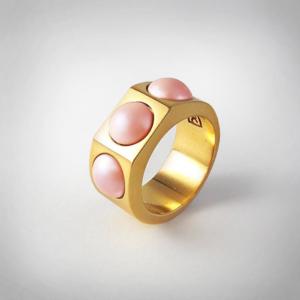 Bernadotte Jewellery Candy gyűrű Korall arany