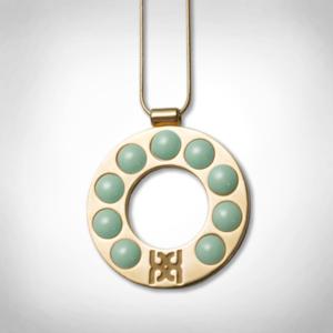 Bernadotte Jewellery Lollipop Jade nyaklánc