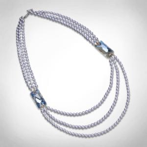 Bernadotte Jewellery Glamour nyaklánc levendula