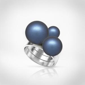 Bernadotte Jewellery Universe Irid Dark Blue gyűrű ezüst