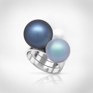 Bernadotte Jewellery Universe azúr gyűrű ezüst