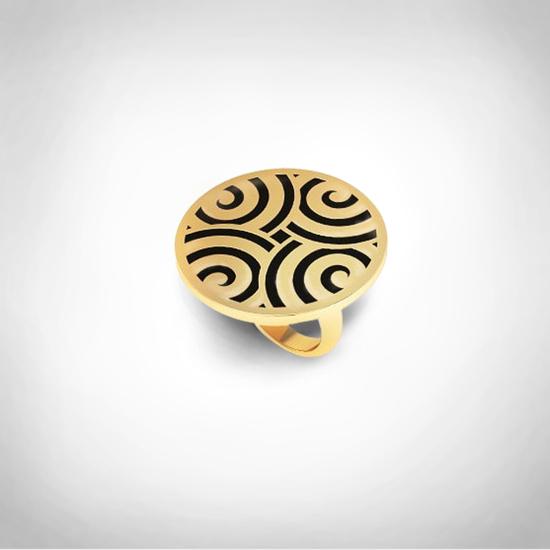 Bernadotte Jewellery Art Deco Labyrinth gyűrű arany