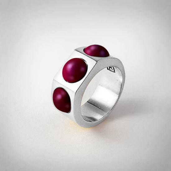 Bernadotte Jewellery Candy gyűrű Blackberry ezüst