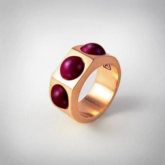 Bernadotte Jewellery Candy gyűrű Blackberry rose gold