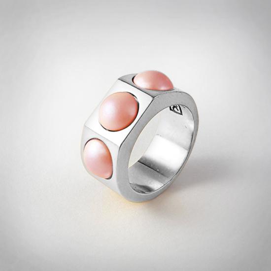 Bernadotte Jewellery Candy gyűrű Korall ezüst