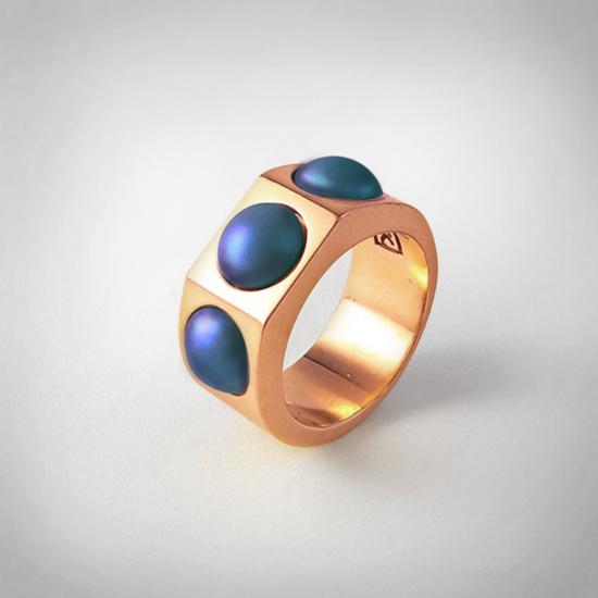 Bernadotte Jewellery Candy gyűrű Wave rose gold