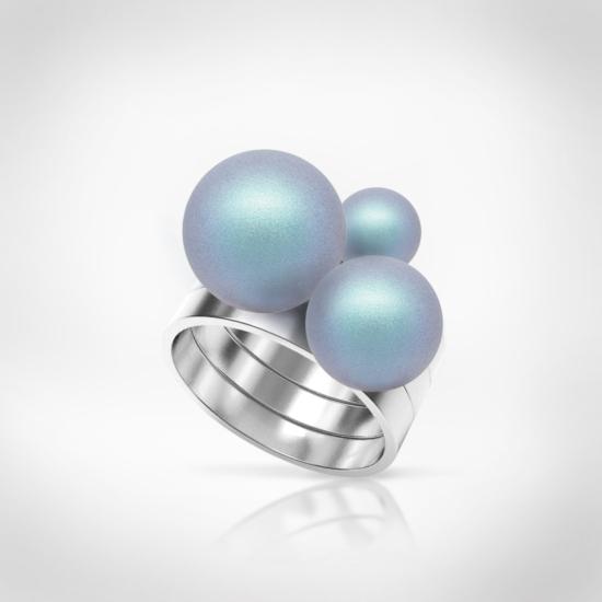 Bernadotte Jewellery Universe Irid Light Blue gyűrű ezüst