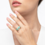 Kép 2/5 - Bernadotte Jewellery Candy gyűrű Jade