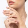 Kép 6/6 - Bernadotte Jewellery Universe Iris gyűrű rosegold