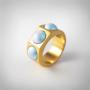 Kép 1/5 - Bernadotte Jewellery Candy gyűrű Azúr