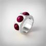 Kép 1/5 - Bernadotte Jewellery Candy gyűrű Blackberry ezüst