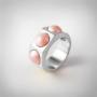 Kép 1/5 - Bernadotte Jewellery Candy gyűrű Korall ezüst