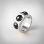 Kép 1/5 - Bernadotte Jewellery Candy gyűrű Midnight
