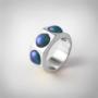 Kép 1/5 - Bernadotte Jewellery Candy gyűrű Wave ezüst