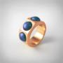 Kép 1/5 - Bernadotte Jewellery Candy gyűrű Wave rose gold