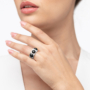 Kép 2/5 - Bernadotte Jewellery Candy gyűrű Midnight