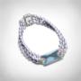 Kép 1/4 - bernadotte-jewellery-glamour-gyöngy-karkötő-levendula