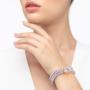 Kép 2/4 - bernadotte-jewellery-glamour-levendula-gyöngy-karkötő-kristály
