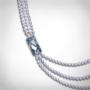 Kép 2/4 - bernadotte-jewellery-glamour-gyöngy-nyaklánc-levendula-glamour