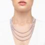 Kép 3/4 - bernadotte-jewellery-glamour-gyöngy-nyaklánc-levendula-glamour