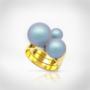 Kép 1/5 - Bernadotte Jewellery Universe Irid Light Blue gyűrű arany