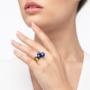 Kép 3/5 - Bernadotte Jewellery Universe Irid Dark Blue gyűrű arany