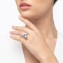 Kép 3/5 - Bernadotte Jewellery Universe Irid Light Blue gyűrű arany