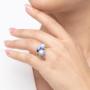 Kép 4/5 - Bernadotte Jewellery Universe Irid Light Blue gyűrű arany