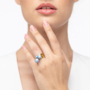 Kép 5/5 - Bernadotte Jewellery Universe Irid Light Blue gyűrű arany