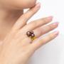 Kép 4/5 - Bernadotte Jewellery Universe Velvet Brown gyűrű arany