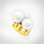 Kép 1/7 - Bernadotte Jewellery Universe Iris gyűrű arany
