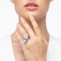 Kép 5/5 - Bernadotte Jewellery Universe Irid Light Blue gyűrű ezüst