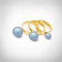 Kép 2/5 - Bernadotte Jewellery Universe Irid Light Blue gyűrű arany