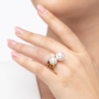 Kép 4/7 - Bernadotte Jewellery Universe Iris gyűrű arany