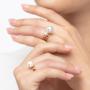 Kép 6/7 - Bernadotte Jewellery Universe Iris gyűrű arany